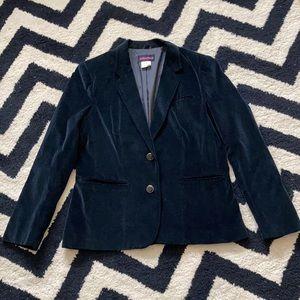 Collections vintage black velvet blazer jacket